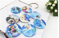 Wholesale Party Supplies gift Cartoon Button Pin Badges Frozen Brooches cm Pins Party Badge Collar Clip Button