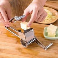 Wholesale Stainless Steel Cheese Grater Chocolate Lemon Fresh Ginger Handle Classic Rotary Safe Fondue Cooking Baking Tools