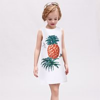 beaded clothing patterns - Girl Dress Brand Children Clothes Summer Fashion Sleeveless Princess Dresses Lovely Pineapple Patterns A Line Dress For Kids Clothing