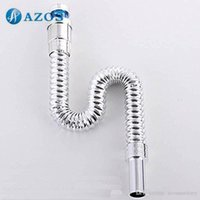 Wholesale Bathroom Sink Drainpipe ABS Plastic Chrome Polished Basin Parts Faucet Accessories PJXSQ004