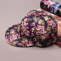 Wholesale 2016 Summer Floral Baseball Cap Women hip hop Hats Casquette Adjustable Hat Flower Print Outdoor Snapback Cap Sport Gorras