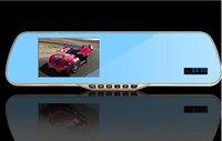 Cheap Dual Camera HD 1080P 5'' Rear View Mirror Android 4.4 WIFI GPS Recorder Car DVR