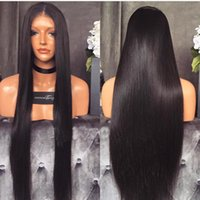 affordable baby - Affordable Inch Long Burmese Human Hair Silky Straight Lace Front Wigs With Baby Hair For Black Women