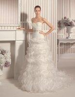 Wholesale Custom Made Novelty Beading Belt Pleated Sweetheart Long Wedding Dress Bridal Gown Custom Made ab