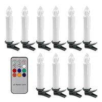 Wholesale 10Pcs Romantic RGB LED Tea Light Candles Battery Operated With Remote Controller For Xmas Party Decoration
