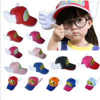 arale cap - New Fashion Cotton Arale Ball hats Adult children Angel Caps Snapbacks Caps Casual Hats B0802