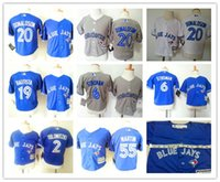 baby blue jays - MLB jerseys Toronto Blue Jays Baby jersey Toddler s Baseball jerseys DONALDSON BAUTISTA TULOWITZKI freeshipping