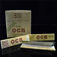 arabic gum - OCB Slim Rolling Smoking Flax Papers Natural Arabic Gum Papers Organic Herbs Unbleached Pure Cigarette Herbs Paper Size mm booklets