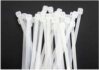 Wholesale White tie with mm amount of foot bag high temperature environmental protection self lock type plastic nylon tie band