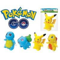 Wholesale Zorn toys Poke go Pokémon plastic action figure doll Wind Up Toys Pikachu Bulbasaur Charmander Squirtle style OPP packaging