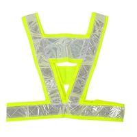 Wholesale V shape Reflective Safety Vest Coat Sanitation vest Traffic Safety Warning Clothing Vest Reflective clothes at Night