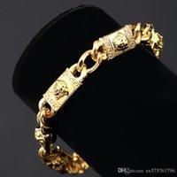 Cheap Fashion Design High Quality Women Mens Bracelet Jewelry Metal 18K Gold Plated Chains Hip Hop Rock Cuff Bracelets