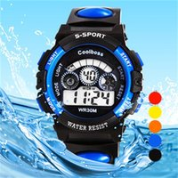 Wholesale Kids Sports digital watch Watches Digital LED Watch Outdoor Casual Wristwatches Relogio Masculino men and women watch KG