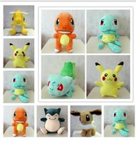 big children games - 30cm Poke Plush Toys Bulbasaur Squirtle Charmander Stuffed e Plush dolls children Pikachu Jeni turtle Plush dolls KKA973