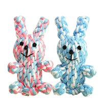 Wholesale Pet dog teeth cotton rope toys chew toys Puppies dog toys Cute Animal Shape Knots Rope