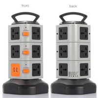 Wholesale KKMOON JW Vertical Multi Socket Layers with Outlets and Ports A USB Smart Power Sockets Multi Protection PA3648