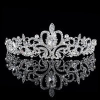 Wholesale High Quality Shining Crystals Wedding Crowns Bridal Veil Tiara Crown Headband Hair Accessories Party Wedding Tiara