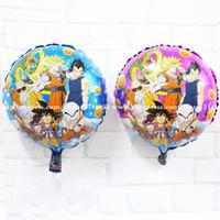 Wholesale inch Party decoration Dragon Ball balloon Anime Super saiyan Battle State DragonBall for party globos boys toys
