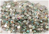 Wholesale high quality SS10 mm round shape crystal AB nail art glue on no hotfix flat back rhinestones