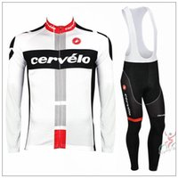 Wholesale 2015 Pro team Winter Cervelo long Cycling Jersey Ropa Ciclismo Winter Cycling Clothing MTB bike sport jersey maillot