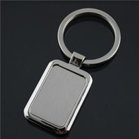 advertising bottle openers - Custom make the rounded rectangle advertising metal keychains key key chain promotion