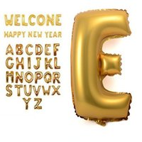 az supply - 1pcs Cute Gold Alphabet AZ optionally foil Letters Balloons New Year Christmas Birthday party Supplies Decoration Balloon