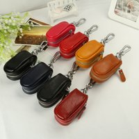 Wholesale 2016 fashion edition leather key bag leather gift car key chain high grade key bag color orange