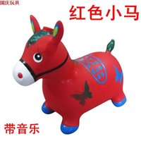 bamboo stained glass - Music jumping horse riding toys children s toys outdoor toys inflatable ball can take a horse proof non toxic stained deer