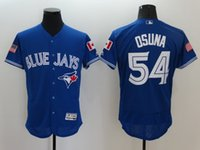 achat en gros de jay étoiles-Chaud!! New 2016 Blue Jays de Toronto Roberto Osuna Royal Fashion Stripes étoiles Flex Base de Baseball Jersey Stitched de haute qualité pour hommes