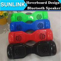 balance wireless - Cool Balance Car Skateboard Scooter Mini Portable Wireless Bluetooth Mini Speaker Hoverboard Shape Subwoofer Support TF Card USB Handsfree