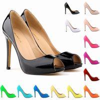 achat en gros de pompes femmes wedge chaussures-chaussures plate-forme de mariage d'été Sexy Womens bout ouvert talons hauts Sandales Peep Toe Pumps US 4-11 806-3PA