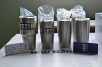 Wholesale Stainless steel Oz YETI Rambler Tumbler Cooler Cup Vacuum Insulated Vehicle Beer Mug Cups