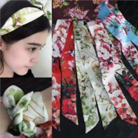 Wholesale Europe and the United States meters small elegant ribbons joker ribbon hand accessories scarf package with ms pure silk scarves