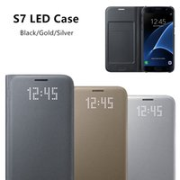 Wholesale Original LED View Smart Cover Phone Case EF NG930 for Samsung Galaxy S7 With Sleep Function