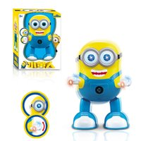Wholesale Despicable Me Minion Dave Dancing D Body Figurines Dolls Electronic Pet Toys Funny With Light And Music