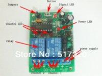 al por mayor 12v interruptor de dos vías-Caliente! Dos vías interruptor de control remoto por radio RF con función de memoria DC 12V para persianas 1 x transmisor receptor