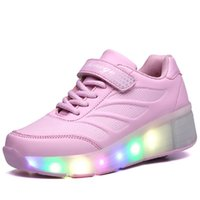 athletic roller - Unisex LED Light Up Shoes Roller Skate Luxury Sneakers Sport Dance Boot Athletic Shoes Christmas Gifts SWISSANT