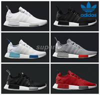 adidas originals - 2016 Adidas NMD R1 Monochrome Mesh Triple White Black Men Women Running Shoes Sneakers Originals Fashion NMD Runner Primeknit Casual Shoes
