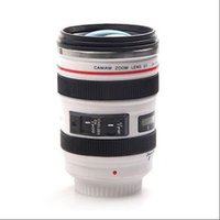 Wholesale DHL shipping Canon Camera Lens Shaped mm Hot Cold Coffee Tea Cup Mug Thermos Caniam G6 White Black
