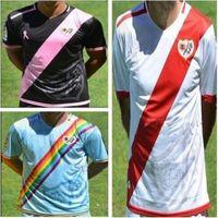 DHL comprar mezclado 2016 2017 kits Rayo Vallecano hombres de Jersey del fútbol Camiseta de fútbol para adultos Rayo Vallecano hogar lejos camisa de la calidad de Tailandia de DHL