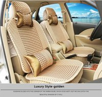 Wholesale Ice silk Car Seat Covers fit for seats car comfortable in Four Seasons Especially cool in summer