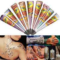 Wholesale Color Natural Herbal Henna Cones Wedding Temporary Tattoo Body Art Paint Mehandi Ink Fashion