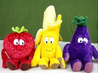 Wholesale New vegetables and fruits plush toy cherry and other early education toys