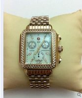 michele watch - factory seller High quality low price Hottest Michele Deco Diamond Chronograph day date fully function Rose Gold Quartz watch fashion w