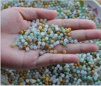 Wholesale 1000Pcs Natural jade Burma jade A goods ice three color round Burmese Jade Loose Beads In Stocks apple626