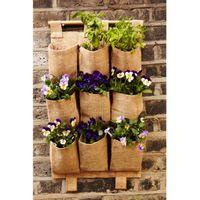 Wholesale 9 Pockets Folding Hanging Bag Vertical Garden Planter Bonsai Storage Bag Garden Pot Flower Organizer