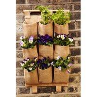 9 Карманы Раскладной висит сумка Вертикальный сад плантатор Бонсай хранения сумка Садовый горшок Цветочный Организатор