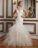 handkerchief dresses - 2017 puffy plus size wedding dresses with tulle handkerchief skirt deep v neck keyhole back plus size wedding gowns
