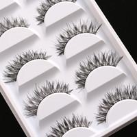 Wholesale Makeup Handmade Soft Fashion Demi Wispies Natural Fake Cross Thick False Eyelashes Eye Lashes