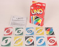 Wholesale UNO poker card standard edition family fun entermainment board game Kids funny Puzzle game